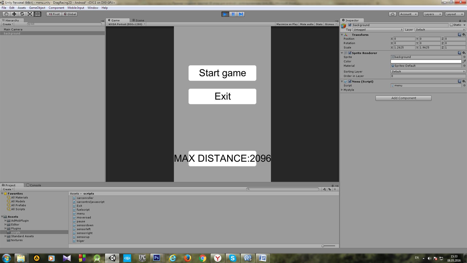 Пример создания простой 2D игры для Android с использованием игрового движка Unity - 6