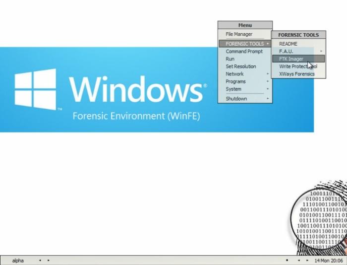WinFE Interface