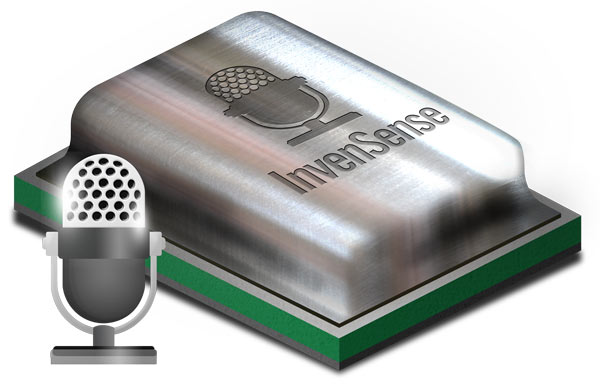 Микрофоны InvenSense ICS-52000 — цифровые, то есть подключаются непосредственно к процессору