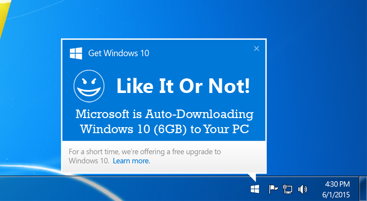 Microsoft втихую снова активирует пакет KB3035583 в Windows 7 для апгрейда ОС до Windows 10 - 1