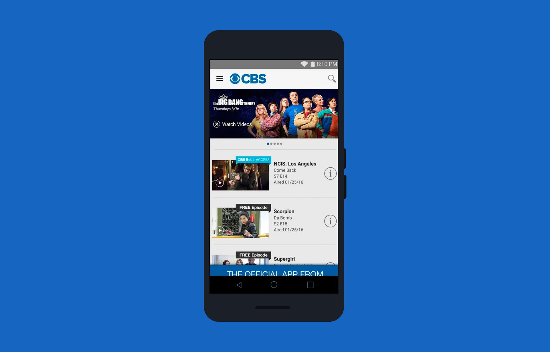 Лучший друг киномана: переделываем приложение CBS под Android - 2