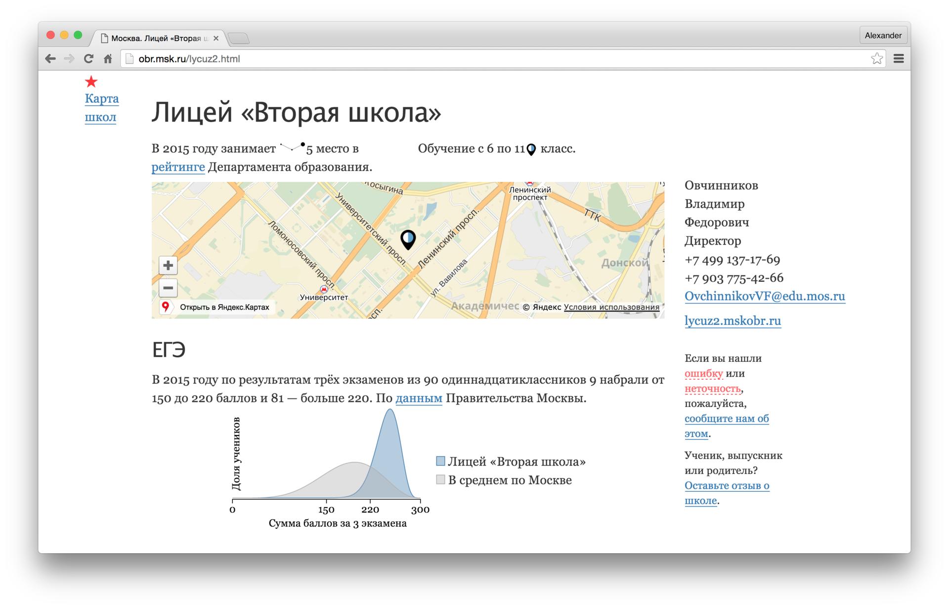 Выбор школы в Москве the hard way - 1
