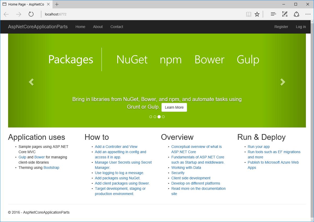 ASP.NET Core RC2: встроенная поддержка модульности (application parts) - 3