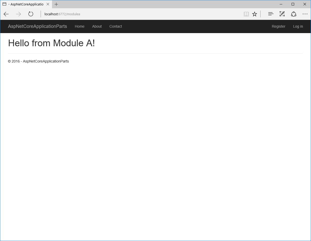 ASP.NET Core RC2: встроенная поддержка модульности (application parts) - 5