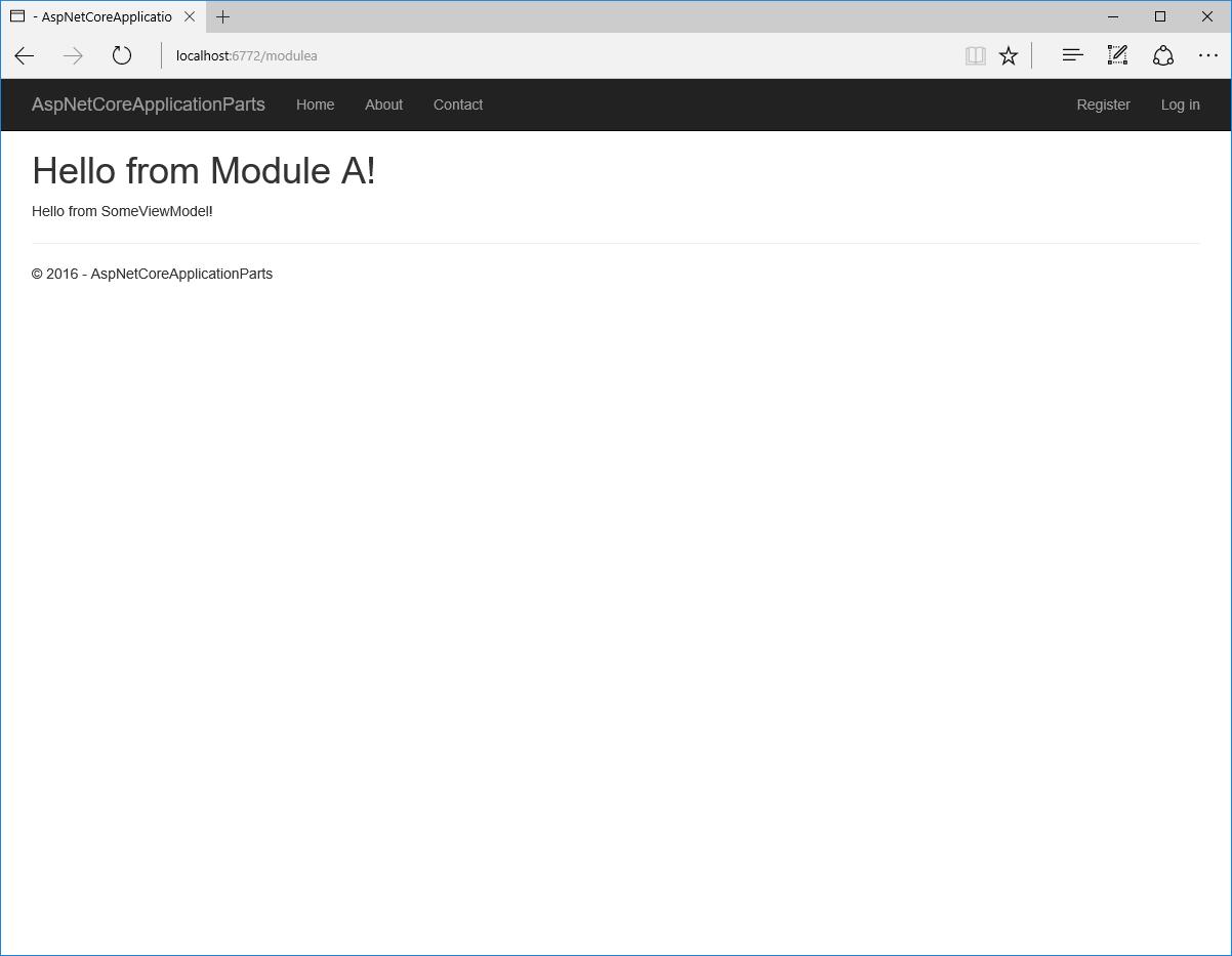 ASP.NET Core RC2: встроенная поддержка модульности (application parts) - 6