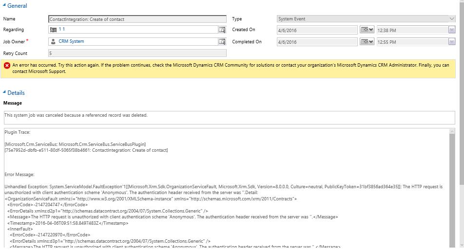 Интеграция двух тенантов Dynamics CRM Online при помощи Azure Service Bus и Azure Cloud Service - 12