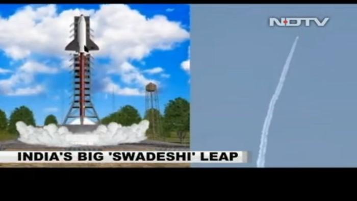 Индия испытала 6,5-метровую масштабную модель возвращаемой ступени - 1