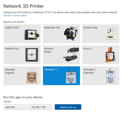 Новое приложение для Windows 10 IoT Core позволяет сделать 3D принтер сетевым - 1