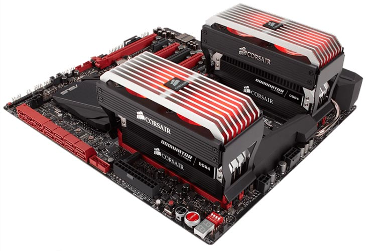Набор CMD16GX4M4B3200C16-ROG рассчитан на установку в слоты системных плат на чипсетах серии Intel 100