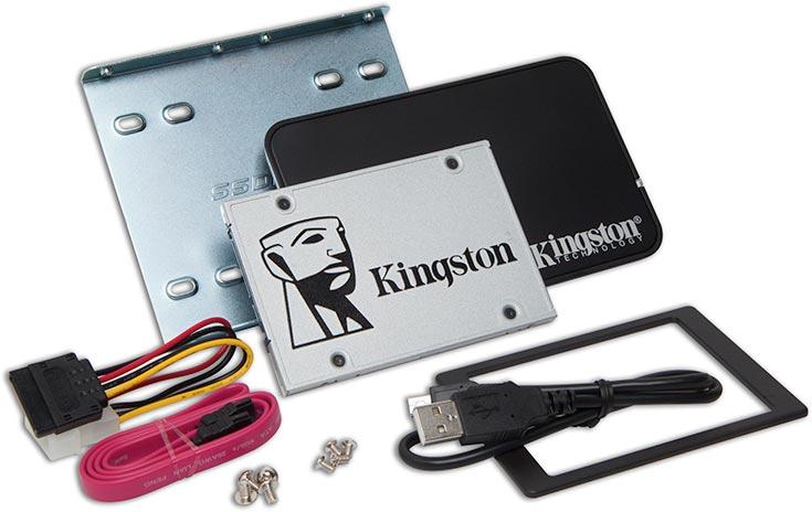 Твердотельные накопители Kingston Digital UV400 типоразмера 2,5 дюйма оснащены интерфейсом SATA 6 Гбит/с