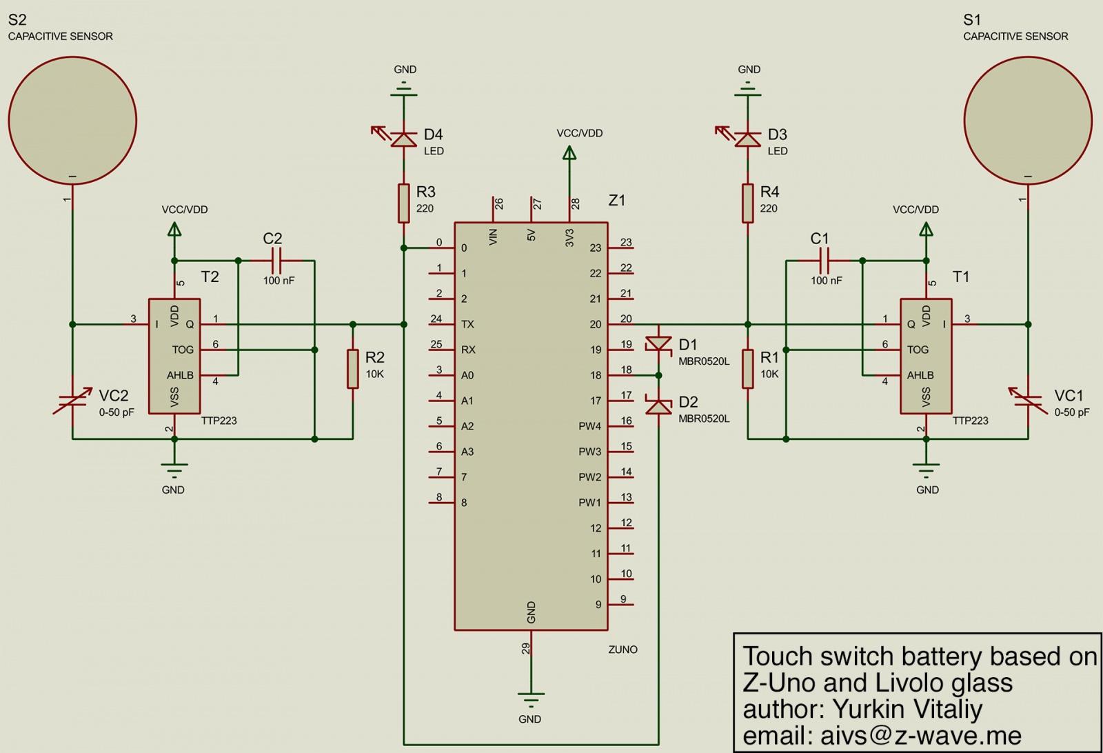 Сенсорный радио выключатель на батарейках. Livolo + Z-Uno - 8