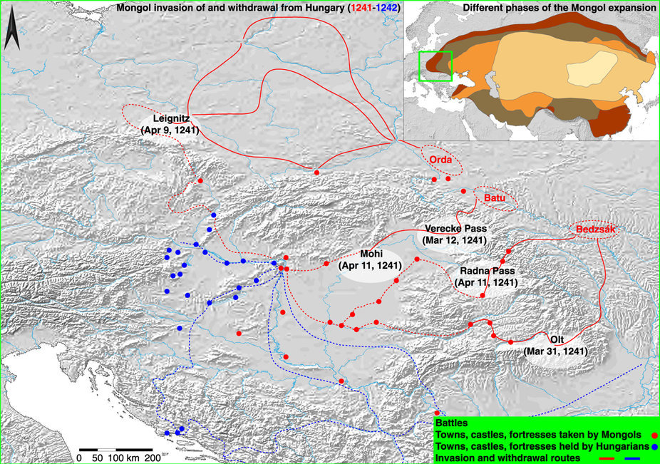 Вторжение Монгольской империи в Венгрию сопровождалось резким изменением климата - 1