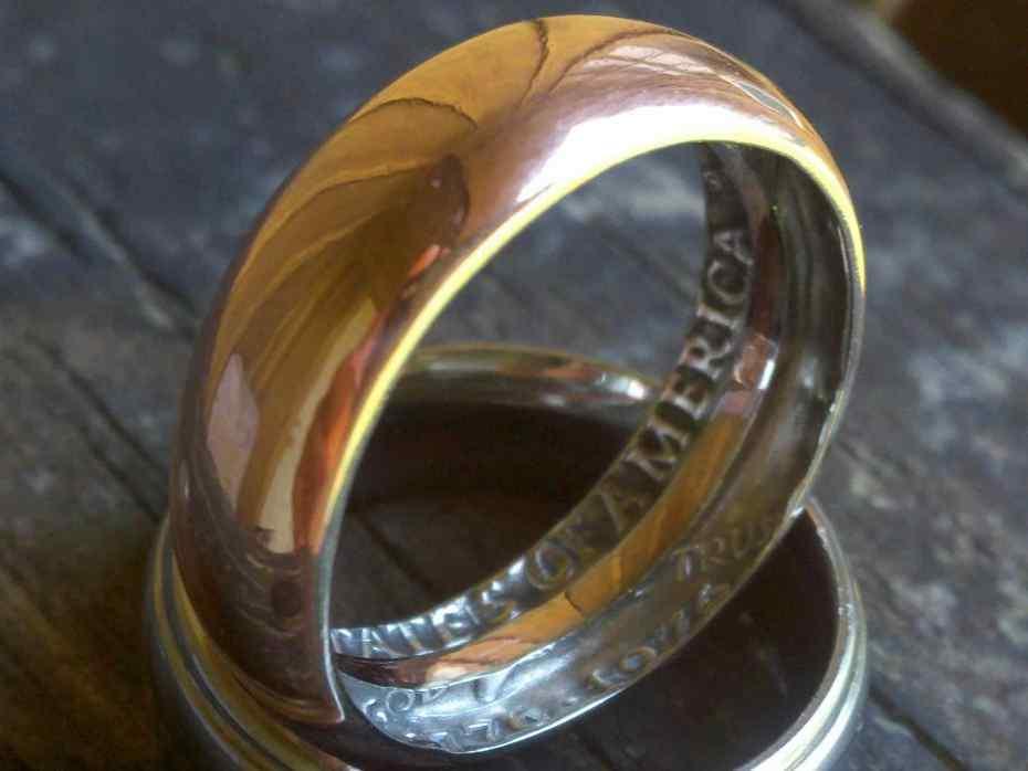 Делаем кольцо из обычной монеты - 1