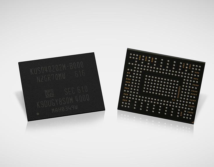 В корпусе PM971-NVMe упаковано 16 чипов Samsung V-NAND плотностью 256 Гбит каждый