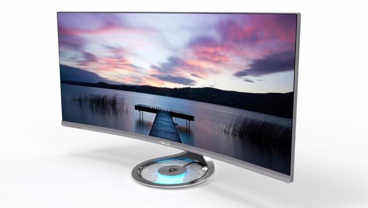 Монитор Asus Designo Curve MX34VQ имеет разрешение 3440 х 1440 пикселей
