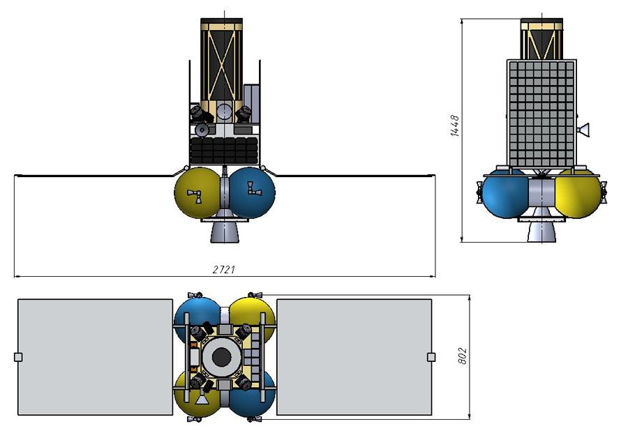 Новый проектный облик лунного микроспутника - 5