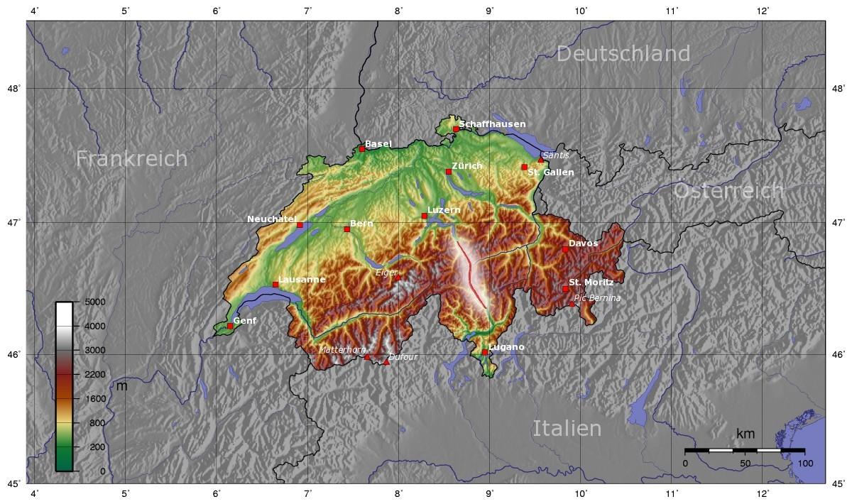 В Швейцарии открыт самый длинный в мире железнодорожный тоннель: 57 км - 8