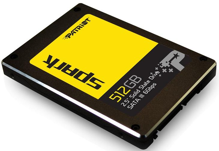 К доступной цене Patriot Spark прилагается двухканальный контроллер, флэш-память TLC и отсутствие буфера RAM
