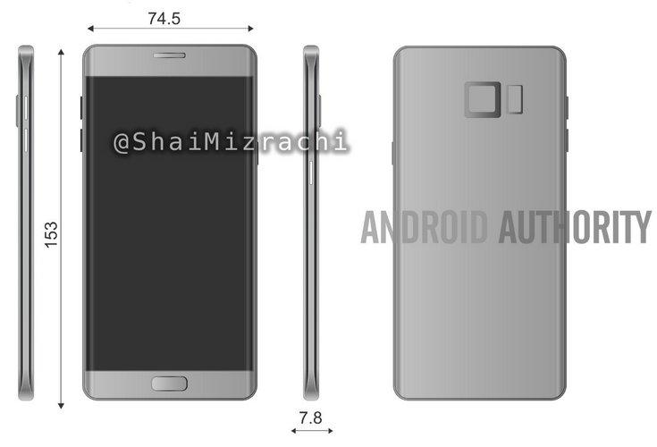 Опубликовано изображение нового Samsung Galaxy Note с размерами