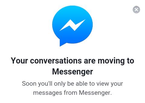 Facebook отключил обмен сообщениями в мобильной версии, заставляя всех установить Messenger - 1