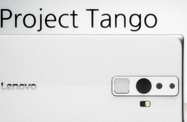 Ожидается, что смартфон Lenovo Project Tango получит дисплей диагональю 6,4 дюйма с разрешение 2K