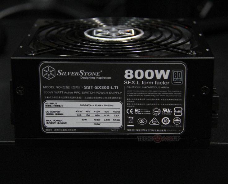 Блок питания SilverStone SX800-LTI имеет сертификат 80 Plus Titanium