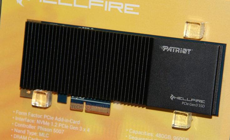 В накопителях Patriot Hellfire PCIe NVMe используется контроллер Phison 5007