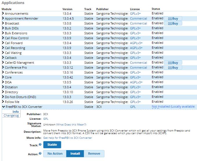 Перенос пользователей из Asterisk (FreePBX) в 3CX Phone System - 4