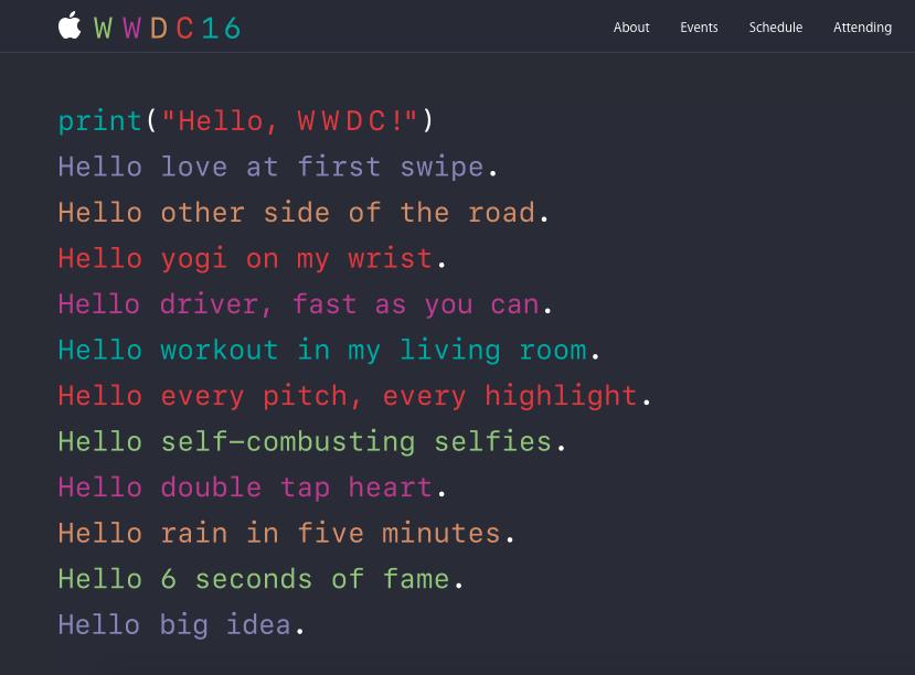 Презентация на Apple Worldwide Developers Conference (WWDC) 2016 [текстовая трансляция] - 1