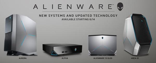 Dell обновила Alienware Aurora, Alpha, Area-51 и Alienware 13