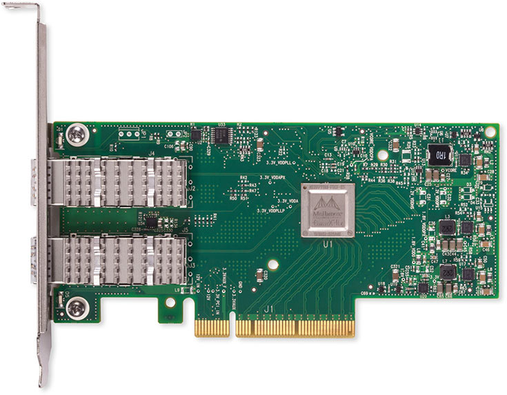 Адаптеры Mellanox ConnectX-4 Lx 25 GbE обратно совместимы с оборудованием 10 GbE