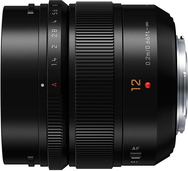 Объектив Panasonic Lumix G Leica DG Summilux 12mm F1.4 ASPH оснащен шаговым приводом фокусировки