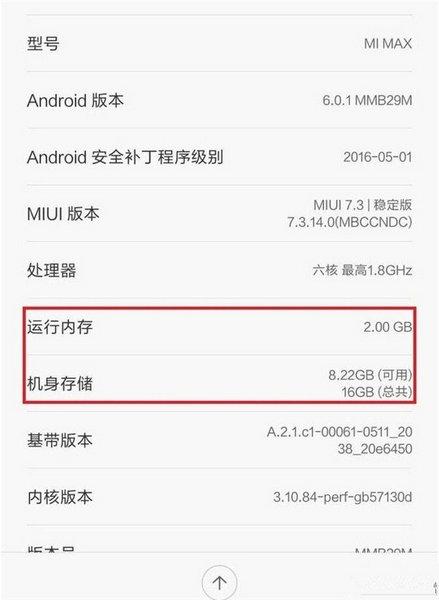 Смартфон Xiaomi Mi Max может появиться в модификации с 2 ГБ ОЗУ