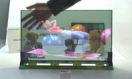 19-дюймовый прозрачный дисплей AMOLED, созданный Samsung