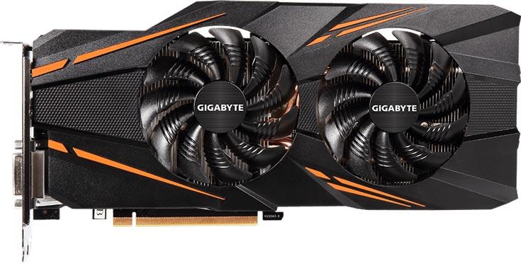Графический процессор 3D-карты Gigabyte GeForce GTX 1070 WindForce OC разогнан до 1771 МГц