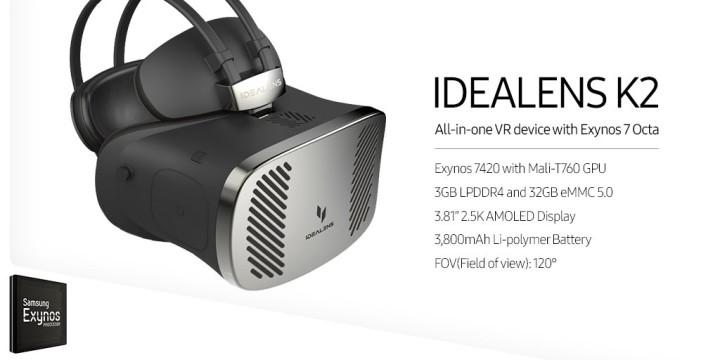 Гарнитура виртуальной реальности Idealens K2 полностью автономна