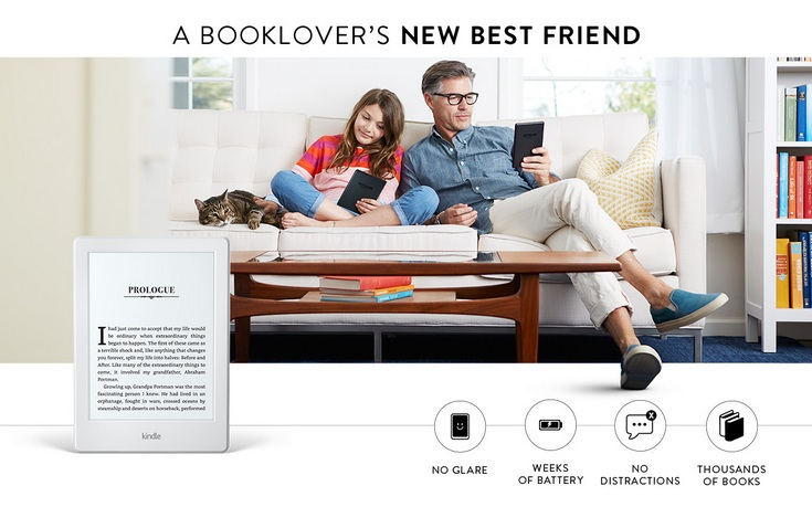 Новая книга Amazon Kindle значительно похудела