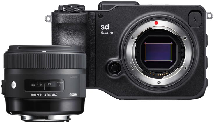 Камера Sigma sd Quattro будет предложена отдельно и в наборе с объективом Sigma 30mm 1.4 DC HSM Art