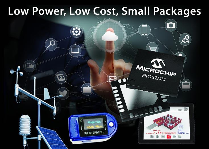 Микроконтроллеры Microchip PIC32MM заняли место между семействами PIC24F XLP и PIC32MX