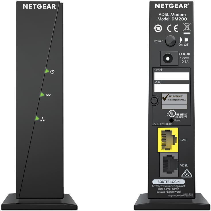 Кабельный модем Netgear DM200 оценен производителем в $60