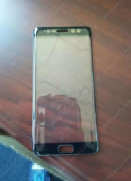 Появилось фото передней панели смартфона Samsung Galaxy Note7