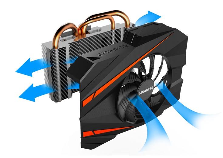 Ускоритель Gigabyte GeForce GTX 1070 Mini ITX OC короче любого собрата