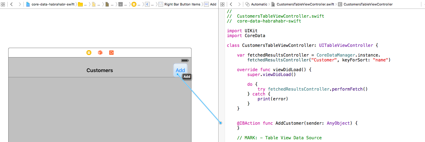 Core Data + Swift для самых маленьких: необходимый минимум (часть 3) - 14