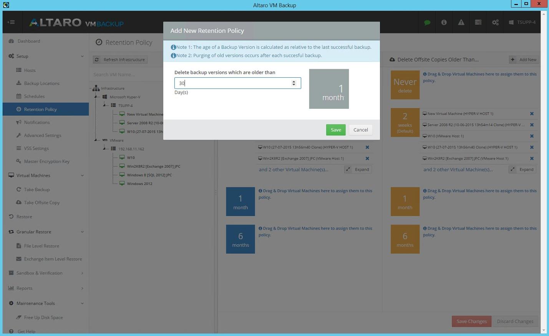Altaro VM Backup: резервное копирование виртуальных машин Hyper-V и VMware - 10