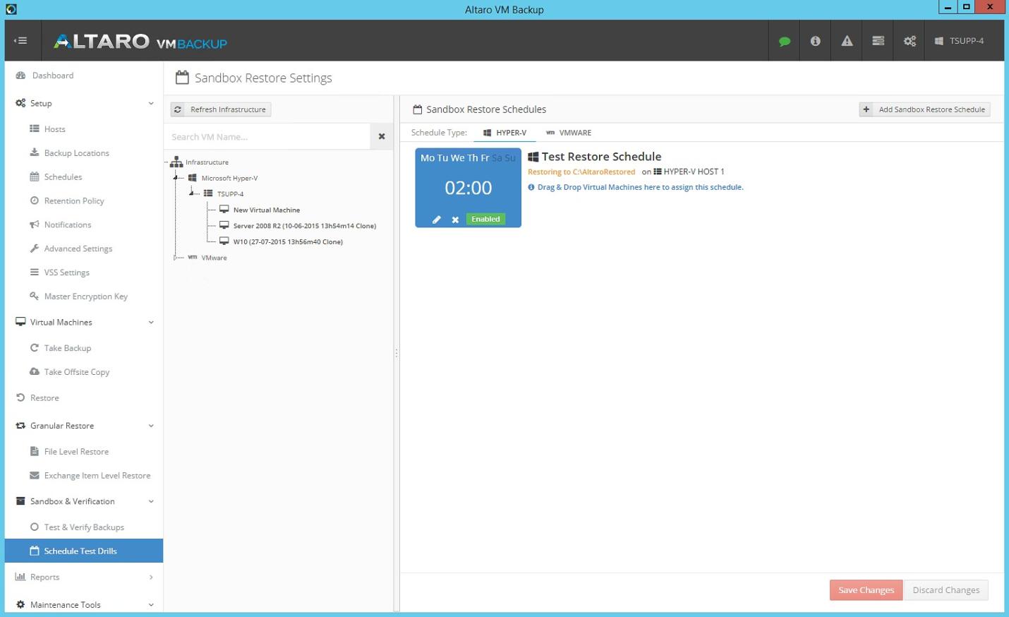 Altaro VM Backup: резервное копирование виртуальных машин Hyper-V и VMware - 12