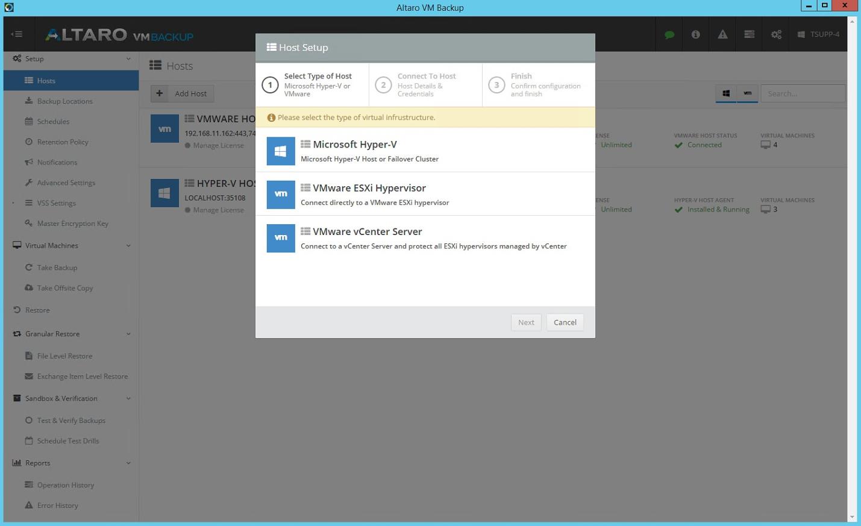 Altaro VM Backup: резервное копирование виртуальных машин Hyper-V и VMware - 4