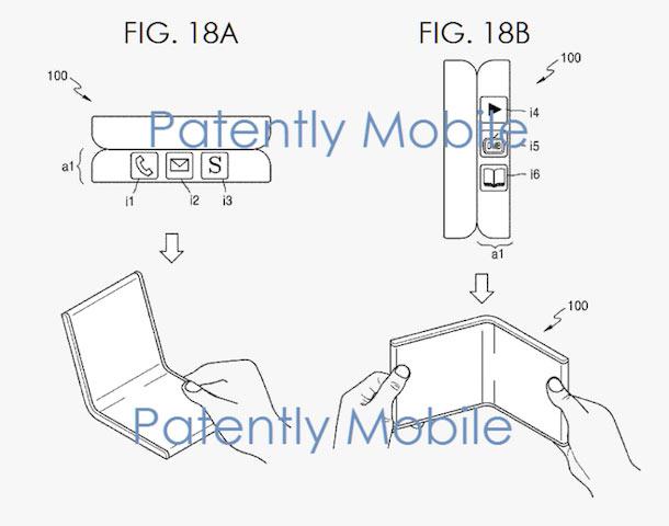 Samsung патентует разработки в области складных смартфонов и планшетов с гибкими экранами