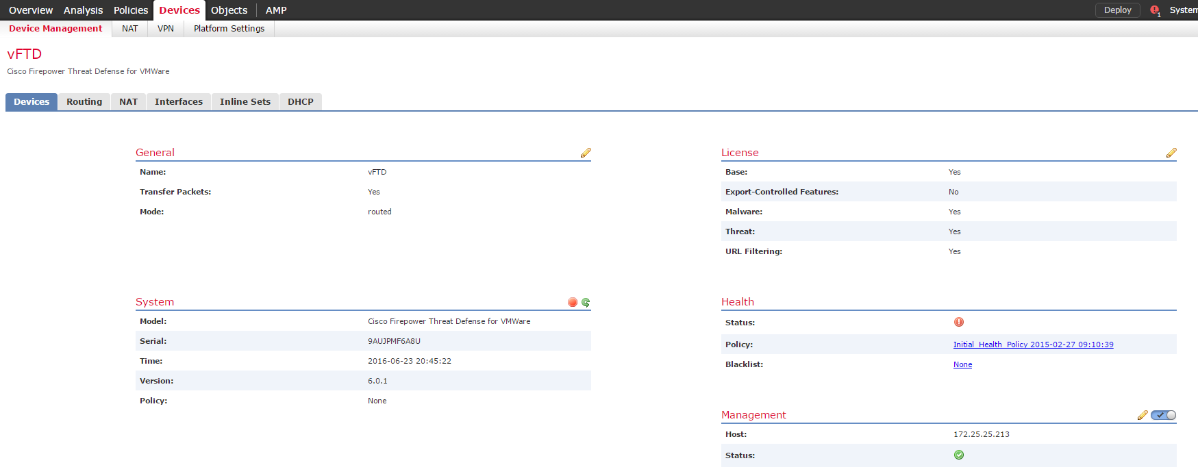 Первый взгляд на новое программное обеспечение Cisco Firepower Threat Defense - 10