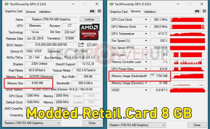 Видеокарты Radeon RX 480 поддаются разблокировке