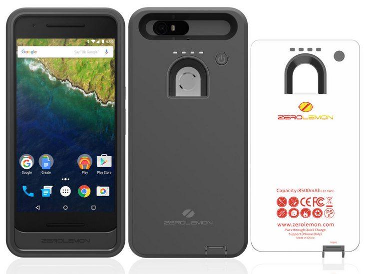 ZeroLemon выпустила чехол с аккумулятором для Nexus 6P